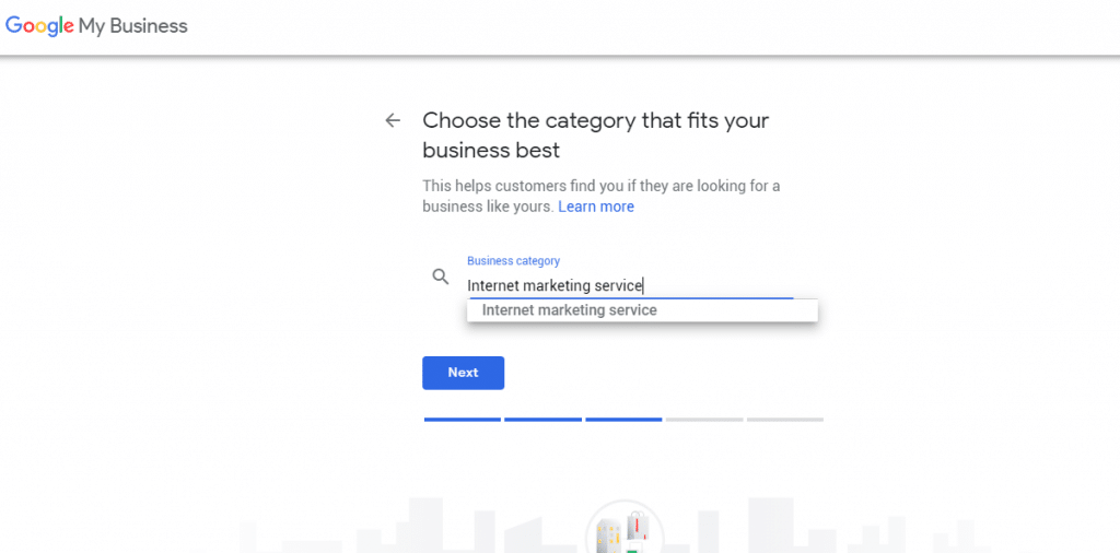 google my business tool model window